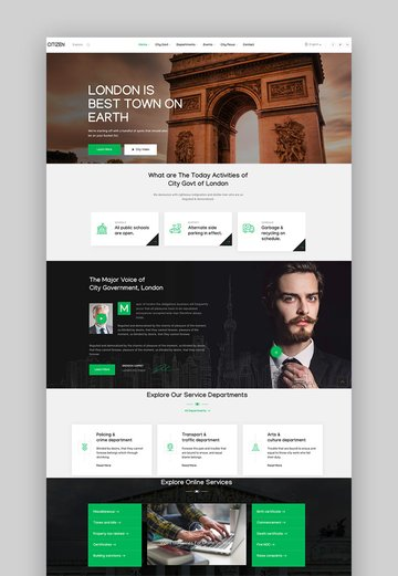 CityZen - Municipal and Government WordPress Theme