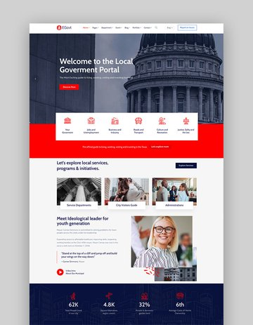 EGovt - City Government WordPress Theme