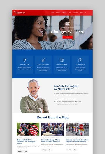 Right Way - Election Campaign and Political WordPress Theme
