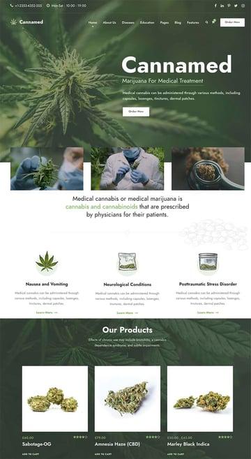 Cannamed - Cannabis  Marijuana WordPress Theme