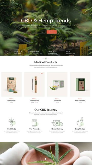 GreenGrow - Medical Marijuana Theme
