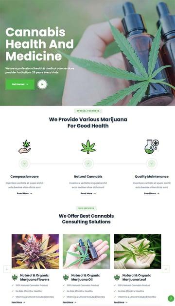 Greenhash - Medical Marijuana Dispensary HTML5 Template