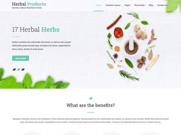 Herbal Lite Free WordPress Marijuana Theme