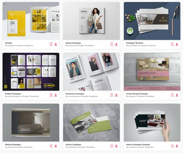 There's a huge collection of catalogue design templates available on Envato Elements.