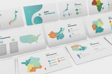 Maps Infographic Google Slides Template