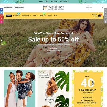 FashShop - Drag  Drop Bootstrap 4 Shopify Theme