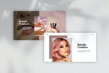 Bekslie - Beauty Vlogger Powerpoint Template