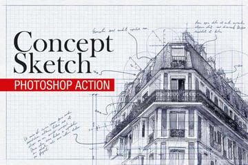 Konzeptskizze - Photoshop-Aktion