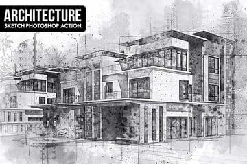 Architecture Sketch Photoshop Action