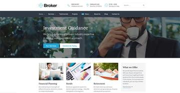 Broker Business and Finance WordPress Theme