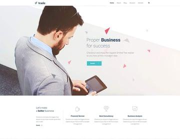 Trade Business and Finance WordPress Theme