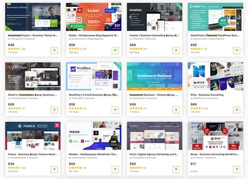 The best finance WordPress themes with professional designs are on ThemeForest.