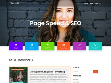 Page Speed  SEO free theme
