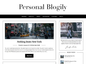 Personalblogily Free WordPress Theme