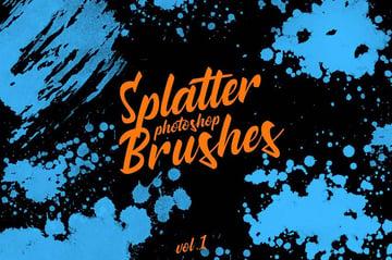 Splatter Stamp Photoshop Brushes