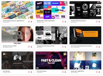 Get unlimited access to hundreds of Final Cut Pro templates.
