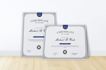 MS Word certificate template
