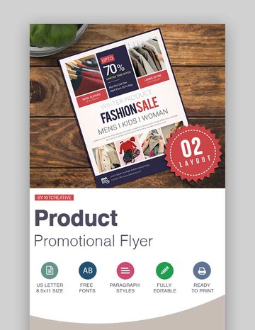 Product Promotional Flyer Fashion Sale