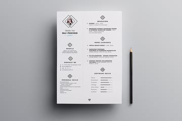 Modern Resume Template Free Download