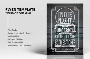 Typography Flyer Vol12