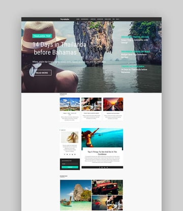 Travelador - Blog Tourism  Agency Joomla Template