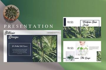 Minimal Fresh Leaf - Nature Creative Google Slides