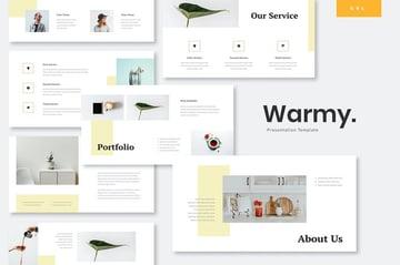 Warmy - Minimalist Google Slides Template