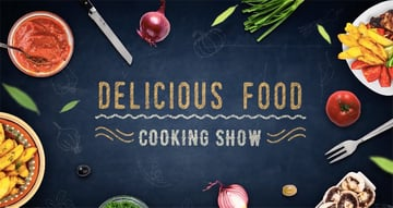 Cooking Delicious Food Show template