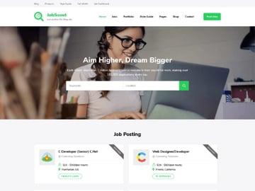 JobScout Free WordPress Job Site