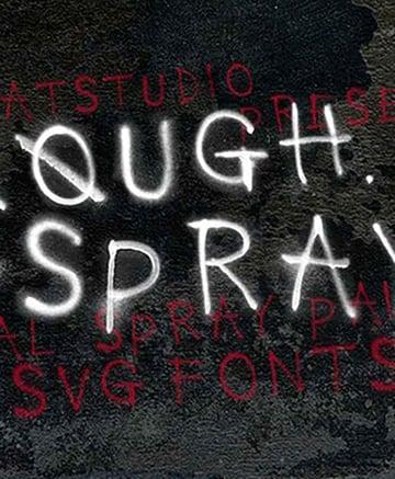 Rough Spray SVG Typeface
