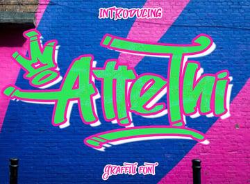 AtteThi Graffiti Style Font