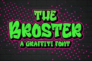Broster - Graffiti Font