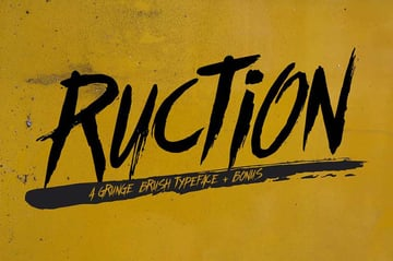 Ruction Graffiti Typeface