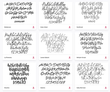Get top free signature fonts from Envato Elements.