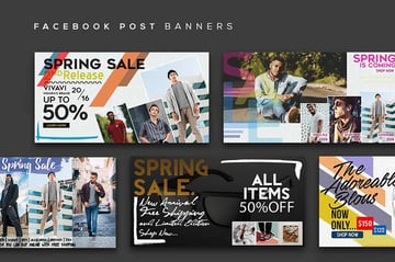 Facebook Post Banners Vol 5