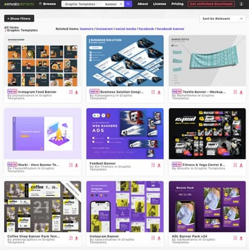 Envato Elements has a great selection of banner design templates