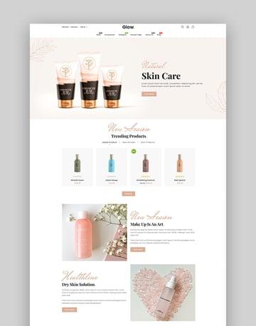 Glow - Beauty & Cosmetics Shopify Dropshipping Theme