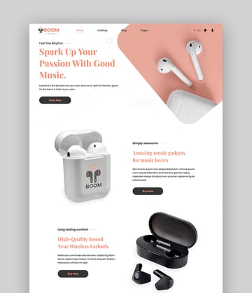 Boom - One Product Shopify Gadgets Theme