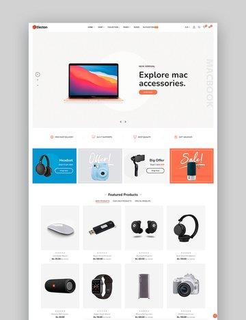 Electon- Single Product Shopify Gadgets Theme