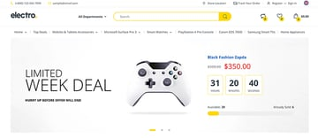 Electro is one of the best-selling Shopify electronics store themes.