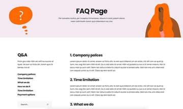 Use a top graphic design portfolio template with a FAQ section like Lekker.