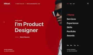 Mikael - Modern  Creative HTML CV Resume Template