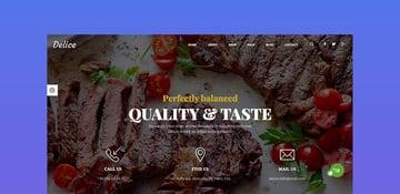 Delice - eCommerce Food Restaurant Template