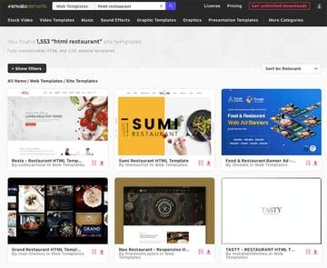 responsive website templates for restaurants