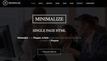 Minimalize Minimal Multipurpose OnePage Template