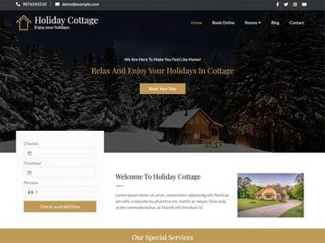 Holiday Cottage - Free Hotel WordPress Theme