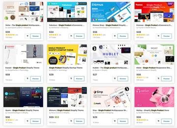Get top premium single product Shopify themes from ThemeForest.