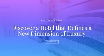 Free Hotel Homepage Elementor Template