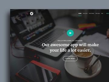 Lhander - Modern Free Landing Page Template