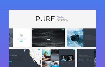 Pure - Clean Splash Page Template